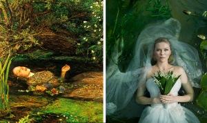 Ophelia (1851 - 1852) by John Everett Millais / Melancholia (2011) by Lars von Trier
