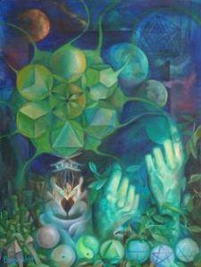 """Sacred Geometree"" by visionary artist, Bonny Hut."